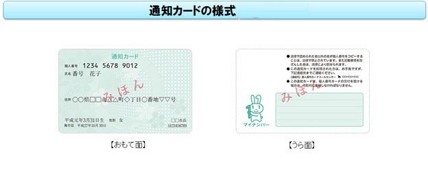 通知カード(表)